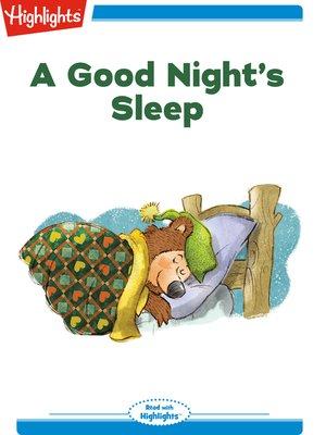 cover image of A Good Night's Sleep