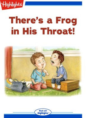 cover image of There's a Frog in His Throat