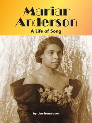 cover image of Marian Anderson: A Life of Song