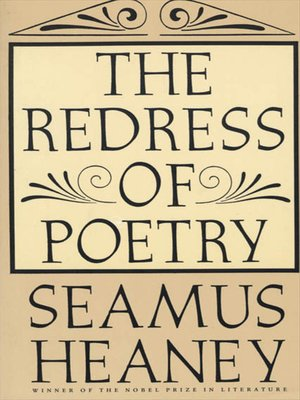cover image of The Redress of Poetry