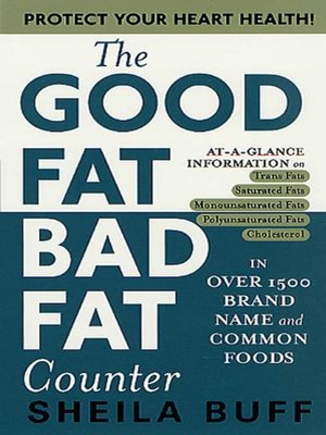 cover image of The Good Fat, Bad Fat Counter