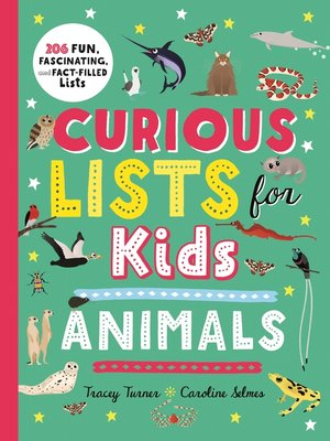 cover image of Curious Lists for Kids – Animals