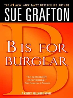 """cover image of """"B"""" is for Burglar"""