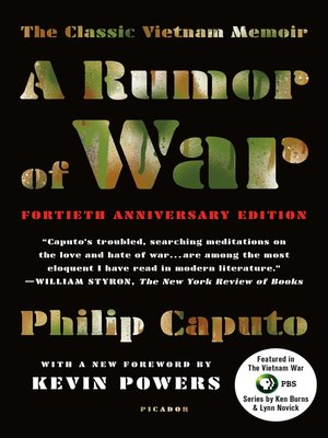 cover image of A Rumor of War
