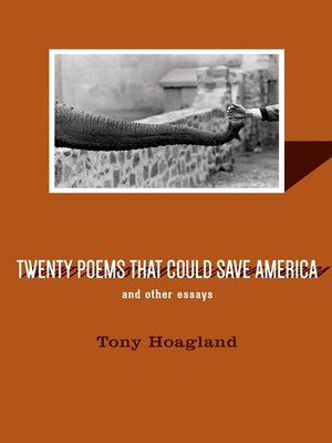 cover image of Twenty Poems That Could Save America and Other Essays