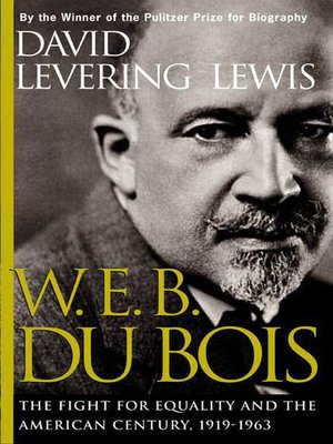 cover image of W. E. B. Du Bois, 1919-1963