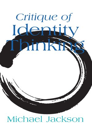cover image of Critique of Identity Thinking