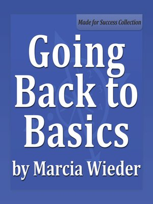 cover image of Going Back to Basics