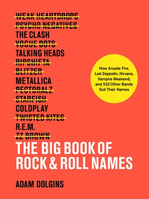 cover image of The Big Book of Rock & Roll Names