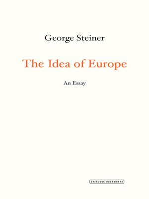 cover image of The Idea of Europe