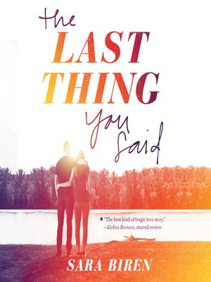 cover image of The Last Thing You Said