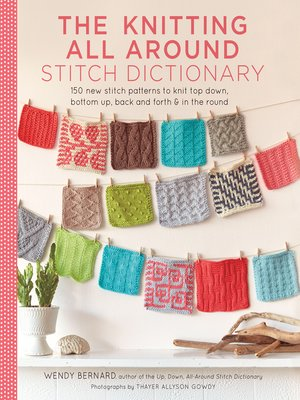 cover image of Knitting All Around Stitch Dictionary