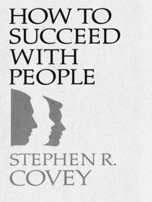 cover image of How to Succeed with People