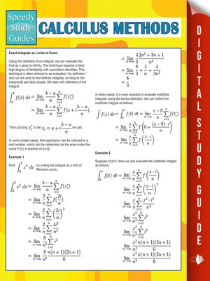 cover image of Calculus Methods