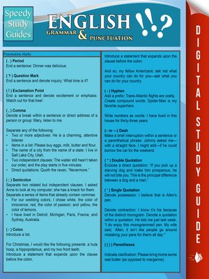 cover image of English Grammar & Punctuation