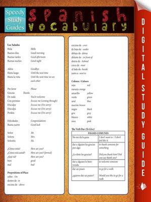 cover image of Spanish Vocabulary, Volume 2