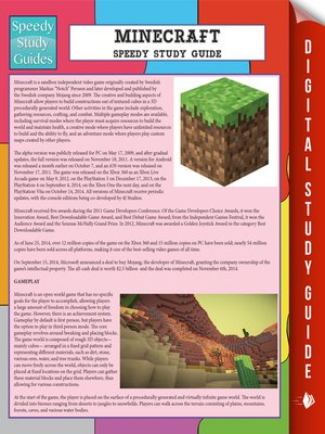 cover image of Minecraft Speedy Study Guide