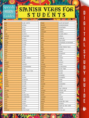 cover image of Spanish Verbs For Students