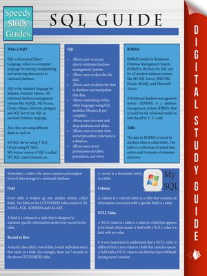 cover image of SQL Guide