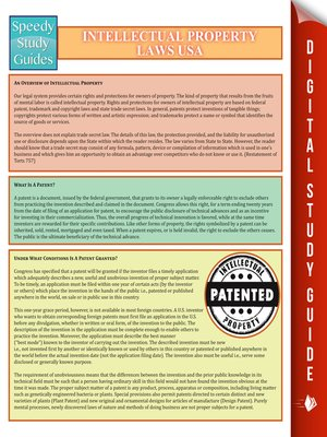 cover image of Intellectual Property Laws USA