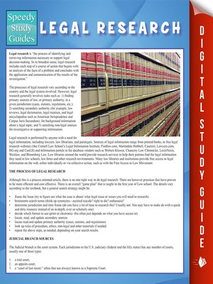 cover image of Legal Research