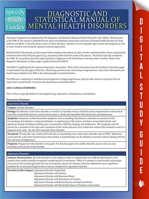 cover image of Diagnostic and Statistical Manual of Mental Health Disorders