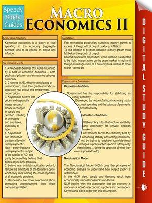 cover image of Macro Economics, Volume 2