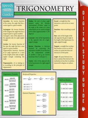 Speedy study guidesseries overdrive rakuten overdrive trigonometry fandeluxe Images