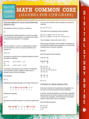 cover image of Math Common Core