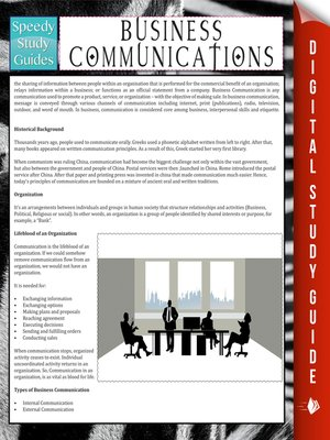 cover image of Business Communications