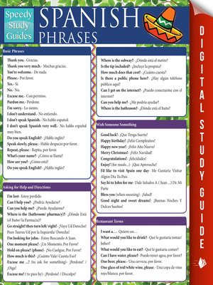cover image of Spanish Phrases