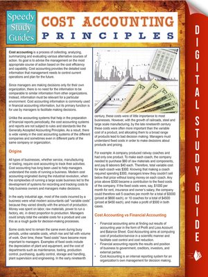 cover image of Cost Accounting Principles
