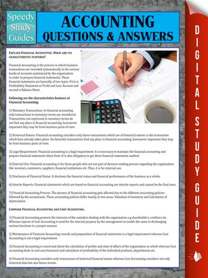 cover image of Accounting Questions & Answers