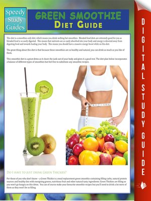 cover image of Green Smoothie Diet Guide