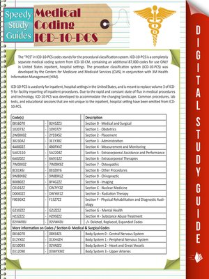 cover image of Medical Coding ICD-10-PCS