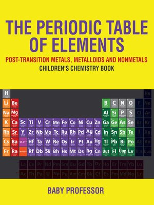 cover image of The Periodic Table of Elements--Post-Transition Metals, Metalloids and Nonmetals--Children's Chemistry Book