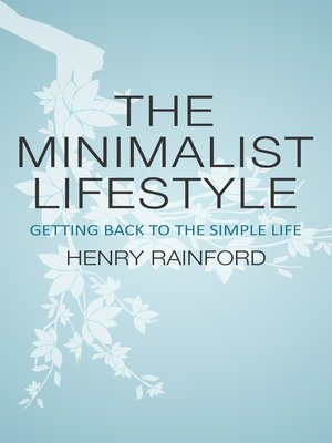cover image of The Minimalist Lifestyle
