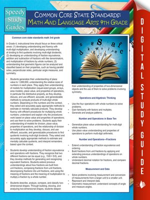 cover image of Common Core State Standards - Math and Language Arts, 4th Grade