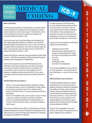cover image of Medical Coding ICD-9