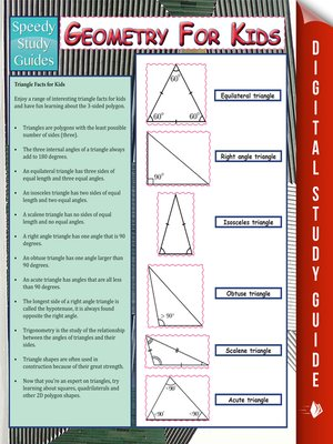 cover image of Geometry For Kids