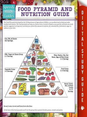 food pyramid and nutrition guide by speedy publishing overdrive rh overdrive com Black and White Food Pyramid Guide New Food Pyramid Guide