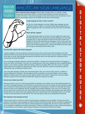 cover image of American Sign Language