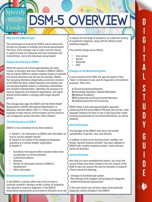 cover image of DSM-5 Overview