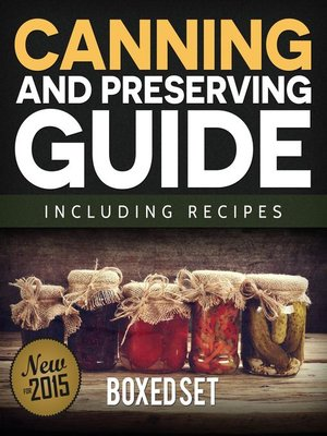 cover image of Canning and Preserving Guide including Recipes