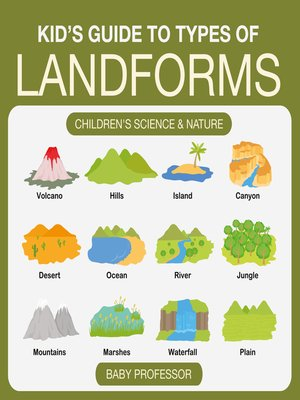 cover image of Kid's Guide to Types of Landforms--Children's Science & Nature