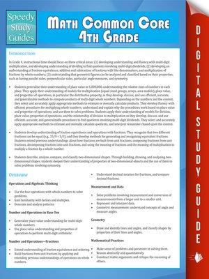 cover image of Math Common Core 4th Grade