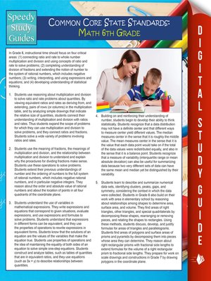 cover image of Common Core State Standards - Math, 6th Grade