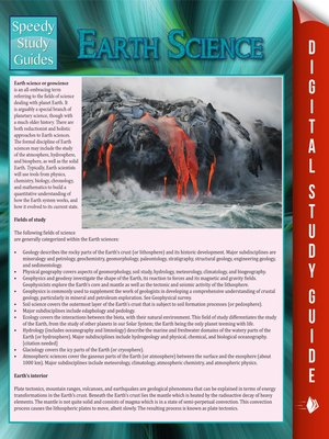 cover image of Earth Science
