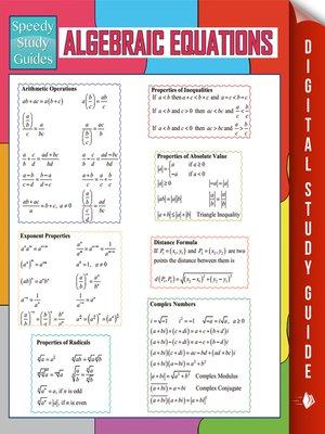 cover image of Algebraic Equations