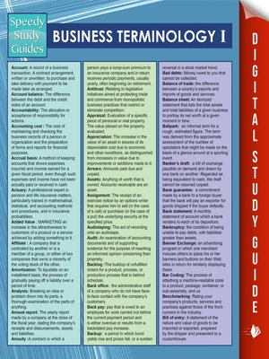 cover image of Business Terminology I
